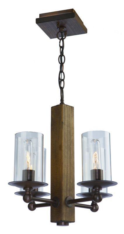 Artcraft Lighting AC10144 Legno Rustico 4 Light 1 Tier Mini Chandelier Brunito Indoor Lighting Chandeliers