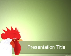Cock PowerPoint Template is a free domestic fowl template slide for animal presentations