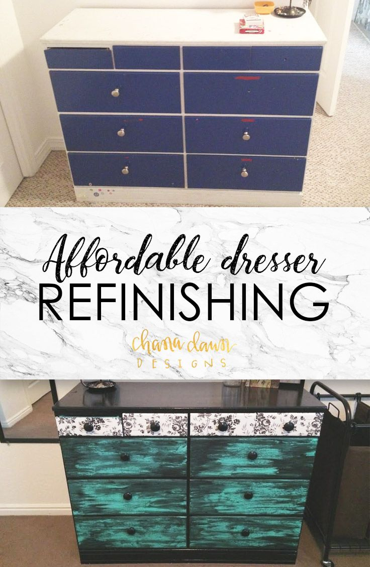 This project, instructions, materials used as well as one other dresser I refinished are now up on my blog!  Go and read about the process! #chanadawndesigns #chanadawndesignsblog #diy #repurpose #refinish #dresserrefinishing #trashtotreasure #recycle #doityourself #inexpensive #affordable #homedecor #furniturerefinishing #chalkpaint #spraypaint #rustoleum #krylon