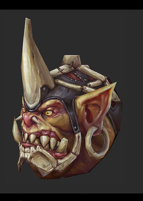 orc head, liu hao on ArtStation at https://www.artstation.com/artwork/orc-head-ca11242c-2c0e-4470-a00f-d0c697e7f213