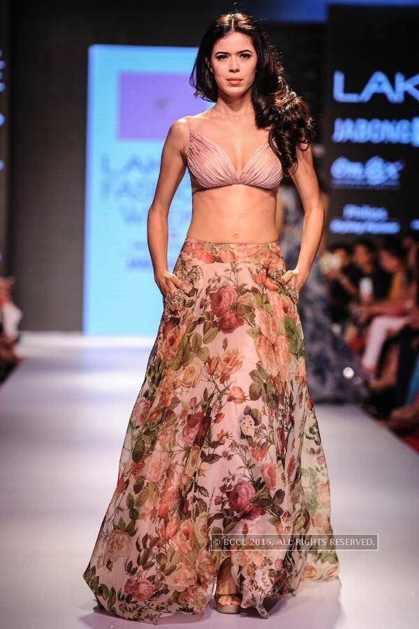 Anushree Reddy at Lakme Fashion Week 2015