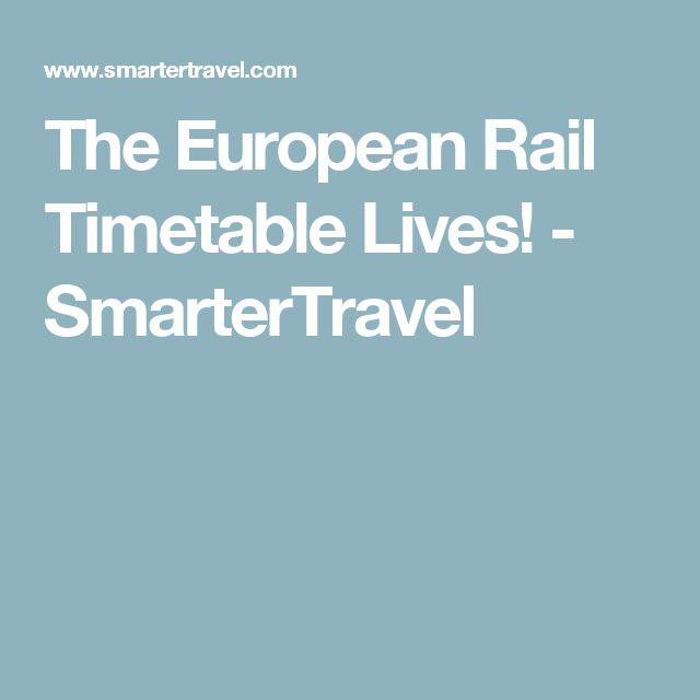 The European Rail Timetable Lives! - SmarterTravel