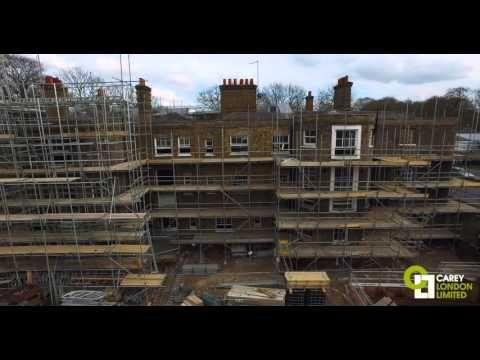 Carey London LTD - Drone Construction Site - Ancaster House Richmond Hill