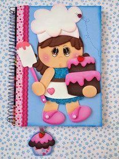 Resultado de imagen para cuadernos decorados en goma eva para psicologos
