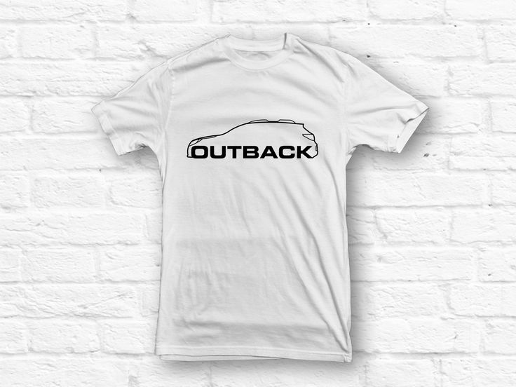 Subaru Outback Car Outline T-shirt