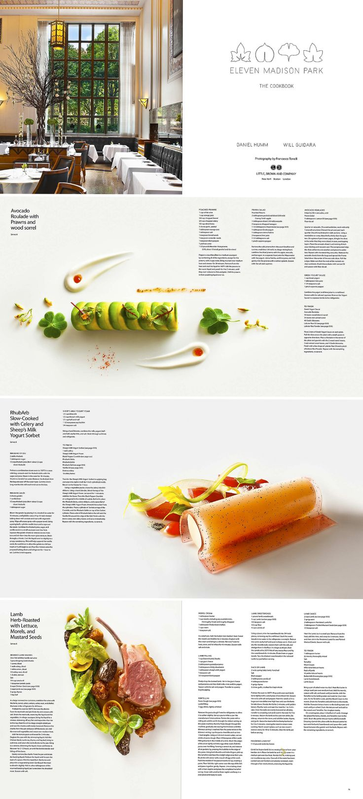 spreads from Eleven Madison Park cookbook