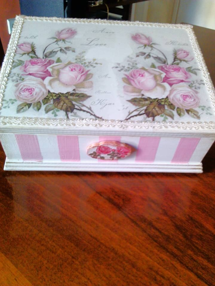Handmade Decoupage by N&M.Lovely!