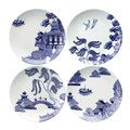 Loveramics - Willow Love Story Salad Plates - Set of 4 - 21cm