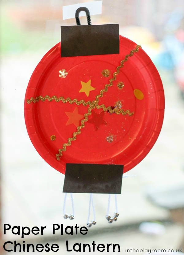Paper plate Chinese lantern craft for kids of all ages to learn about Chinese New Year. #ChineseNewYear #CNY #craft