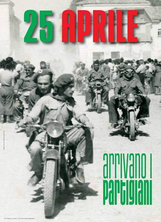partigiani italiani in motocicletta