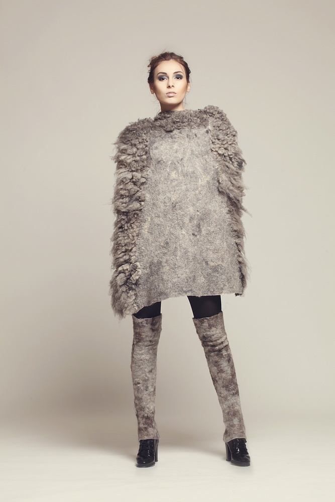 eveanders spring2012 03 — Eve Anders Felting Fashion