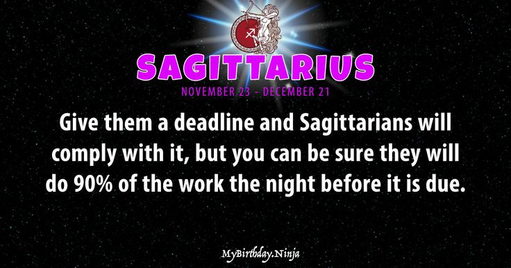 Accurate SAGITTARIUS daily horoscope. LOVE, romance, money, finance, work, career, shareable personality trait
