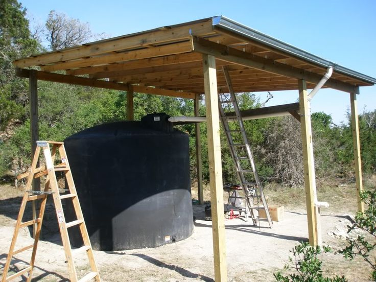 Rainwater Harvesting From Roof Of Pole Barn To Water Tank