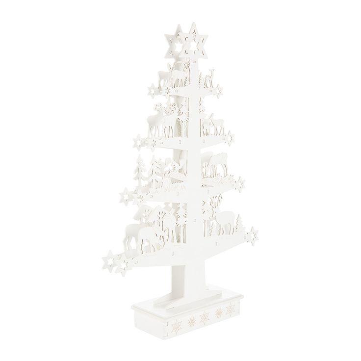 A white Christmas LED decoration from Gisela Graham.
