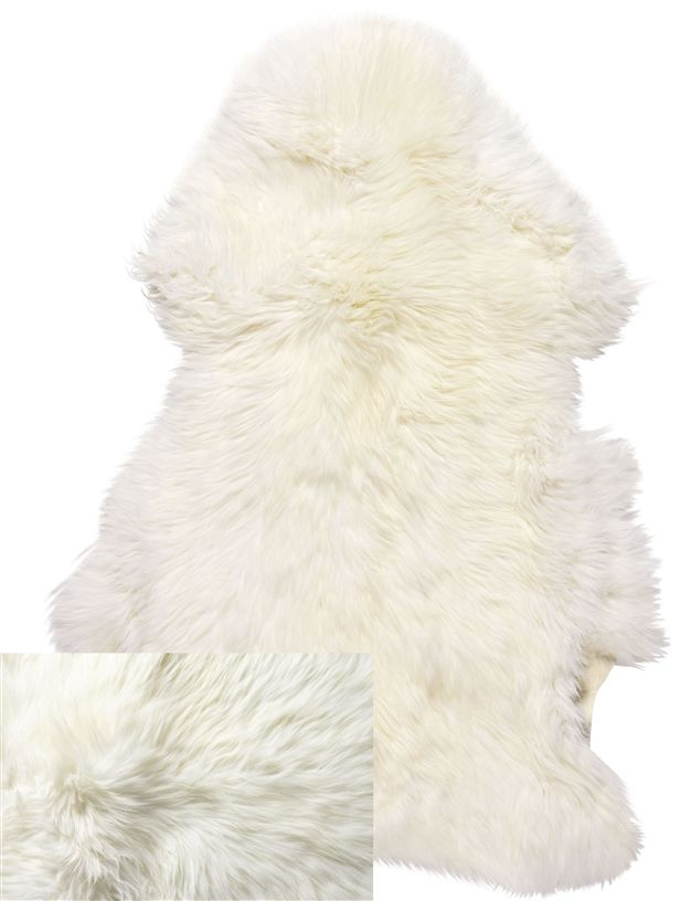 Leather Products - Ivory Sheep Rug, Leather Suppliers, Australia, NSW Leather