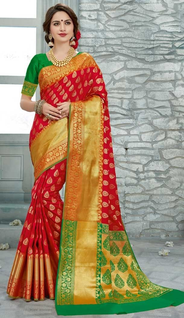 64c2ab5ef7 Red pattu sarees online | Uppada Silk Saris Shop | 377645162 #saree #saris #