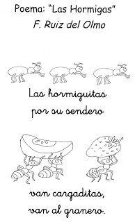 """Lenguaje Oral en Ed Infantil: Poema """"Las hormigas"""""""