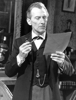 Peter Cushing was one of the first actors to embody Holmes for the small screen. Here, he appears in the episode A Study in Scarlet for the 1960s BBC series. Photograph: BBC