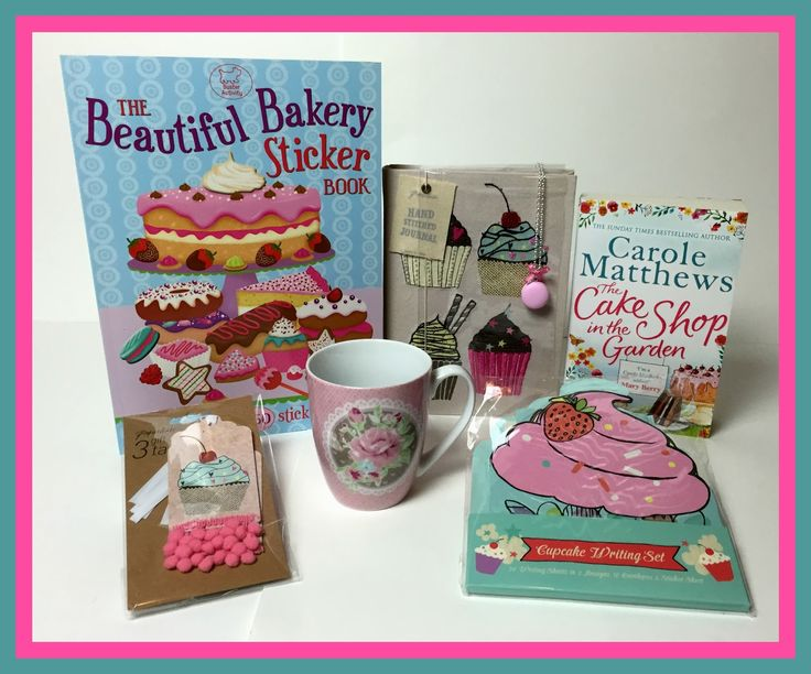 End Oct. 29th!  Suze likes, loves, finds and dreams: Cake, Cupcakes & Cookies Weekend: Notebook, Book, Stickers, Mug, Letter Set, Necklace & Tags Giveaway