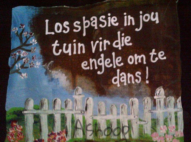 Tuin & engele __[AShooP-Tuinkuns/FB] #Afrikaans