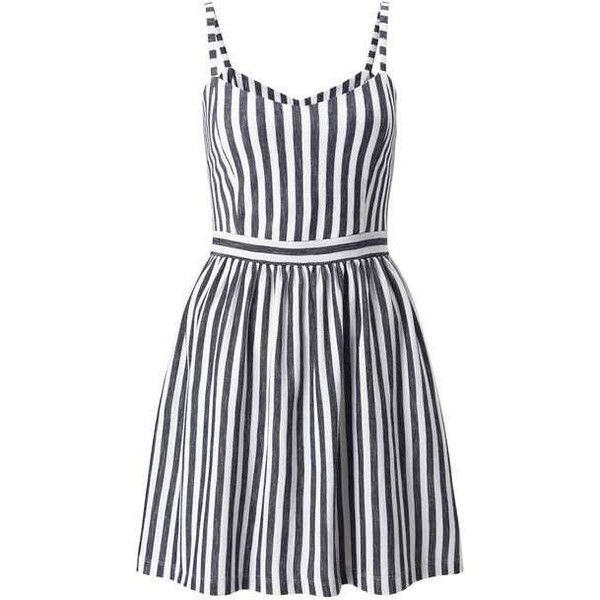Petites Stripe Sundress ($37) ❤ liked on Polyvore featuring dresses, petite sun dresses, petite sundresses, petite dresses, stripe dresses and miss selfridge dress