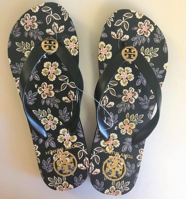 TORY BURCH Thin FLIP FLOPS Shoes ~ Hopewell Aloha Floral ~ Size 7 ~ NEW Hawaiian #ToryBurch #FlipFlops #Casual