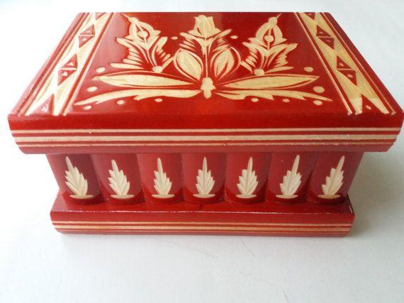 Nuevo moderno rojo madera puzzle caja, caja secreta, caja mágica, caja de joyería, caso, caja de almacenaje tallada delicado, caja tallada, juguete de madera para niños