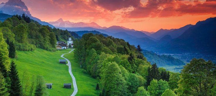 Garmisch-Partenkirchen, Bavorsko, Nemecko