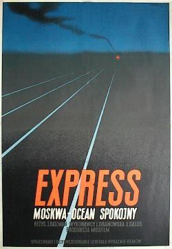 designer: Trepkowski Tadeusz poster title: Express Moskwa-Ocean Spokojny year of poster: 1952
