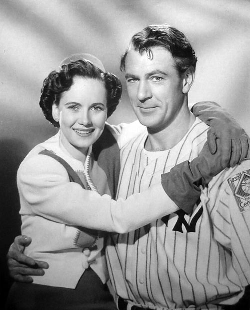 The Pride of the Yankees - Garry Cooper and Teresa Wright.  This movie made me an instant fan of Teresa Wright.