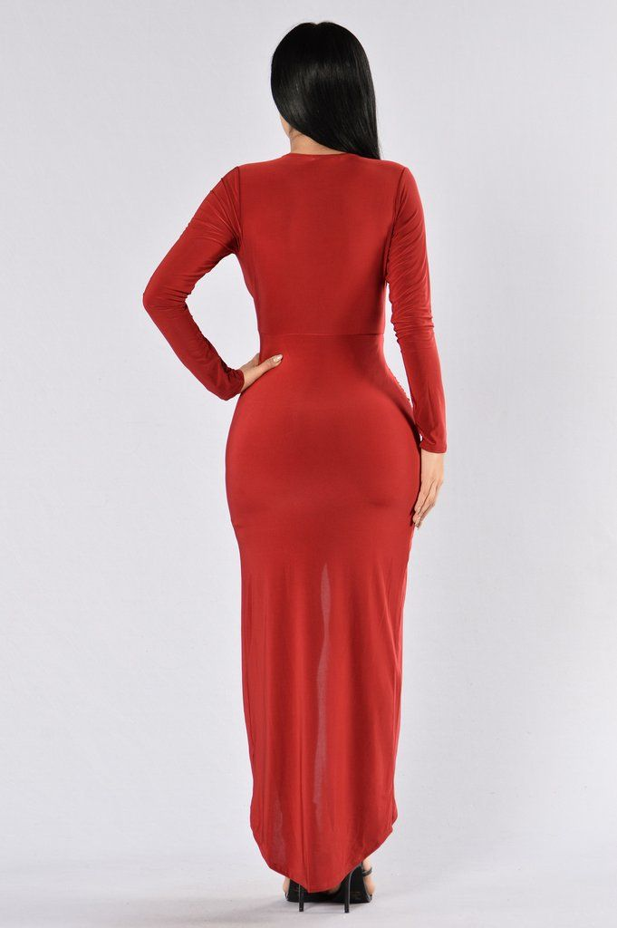 One Last Dance Dress - Dark Red