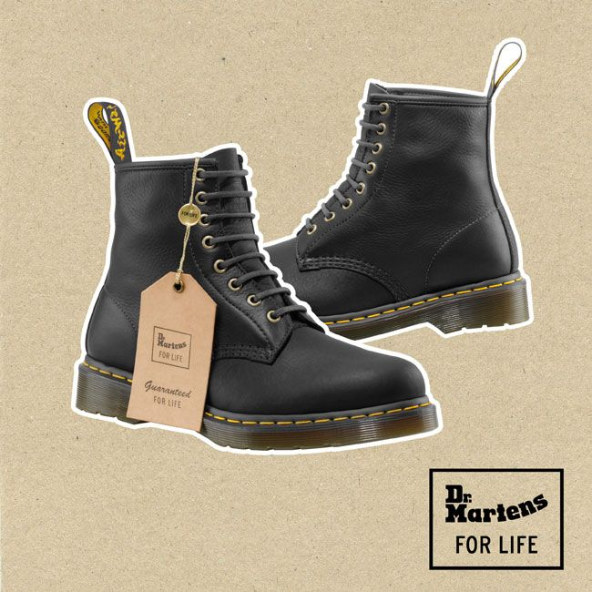 The FOR LIFE Collection - Dr. Martens styles with a lifetime guarentee.