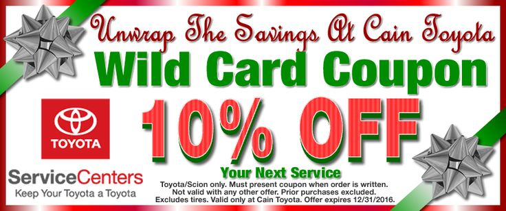 Save 20 on Genuine #Toyota Accessories when you present this - coupon disclaimers