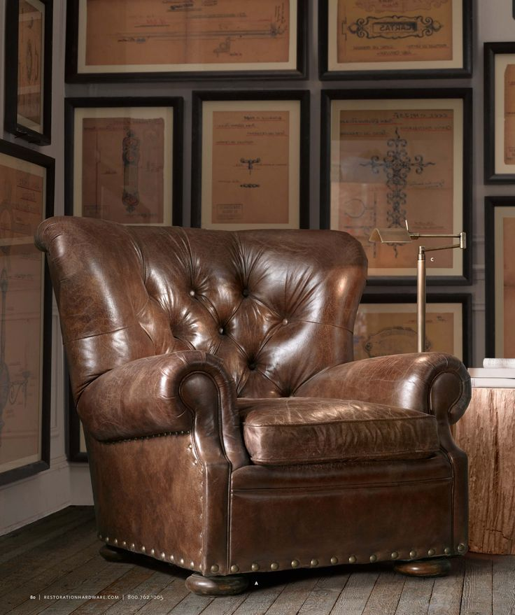 Beautiful Churchill~ Leather Can Swivel Or Recline  Perfect For A Study Or Office Room Photo