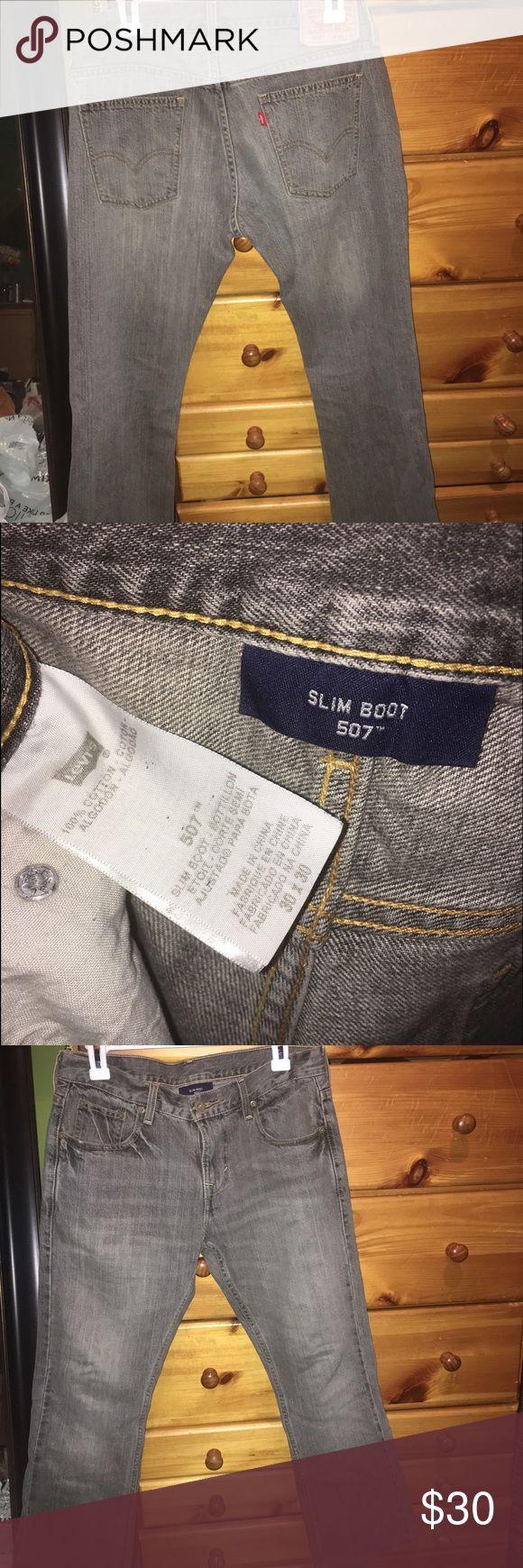 Levis,507,grey jeans, 30x30 Levi's 507  -grey slim boot cut jeans  Size:30x30 Levi's Jeans Slim