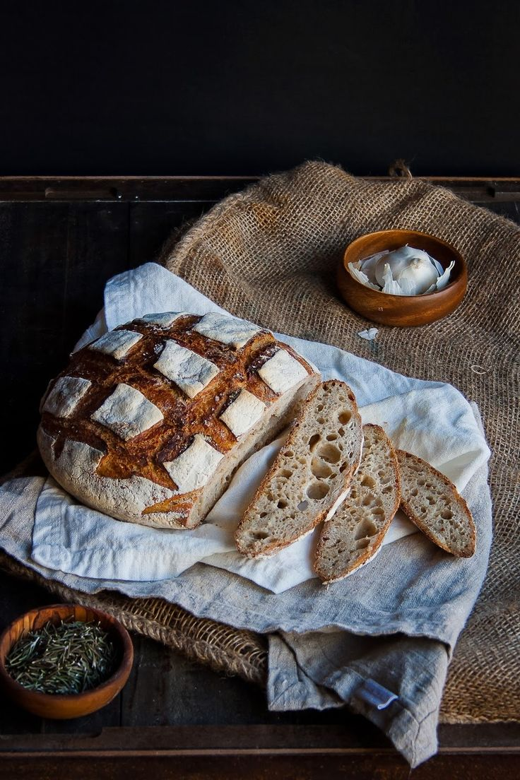 Italian Country Loaf with Rosemary, Garlic, and Lemon —