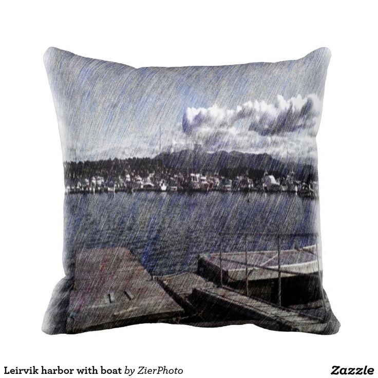 Leirvik harbor with boat pillow