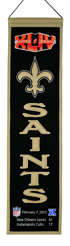 Winning Streak New Orleans Saints Super Bowl XLIV Champions Wool Banner