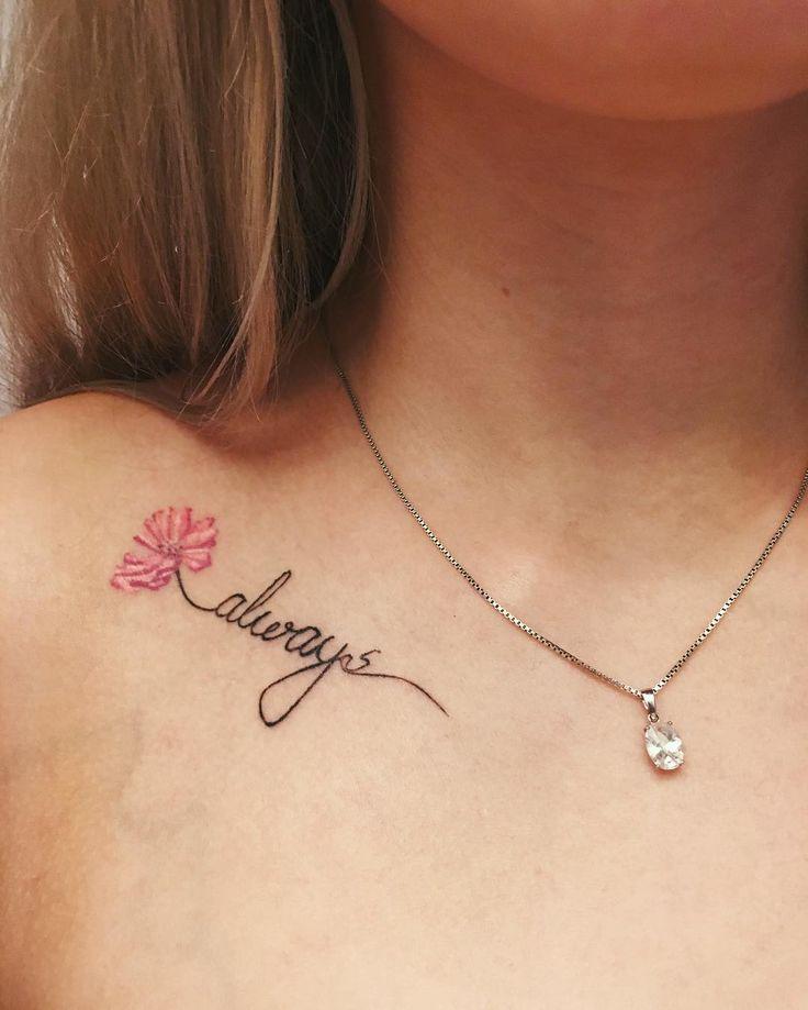 Collarbone Quote Tattoos | POPSUGAR Celebrity