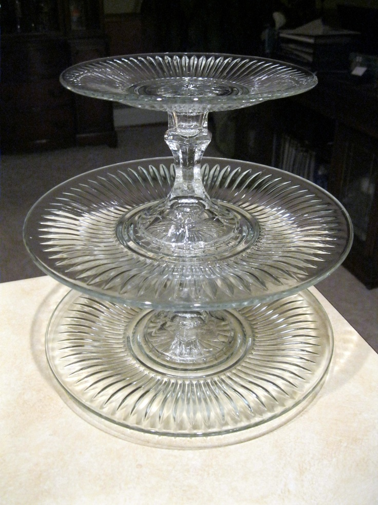 3 Tier Serving Tray With All Components Purchased At The