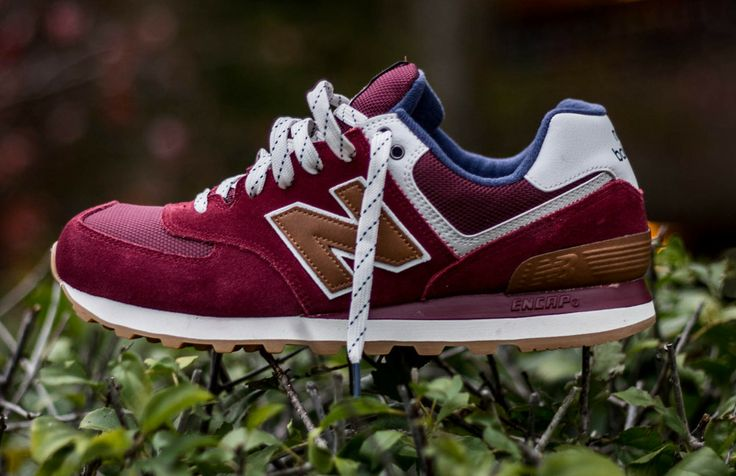 Burn Rubber — New Balance 574 (Burgundy)
