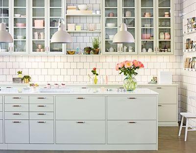 Kjøkkeninspirasjon -  - Grønt kjøkken - Bistro lindblomstgrønn