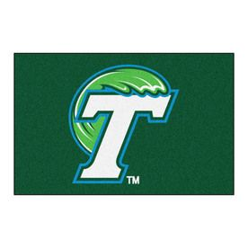 Fanmats Tulane University Rectangular Indoor Machine-Made Sports Throw Rug (Common: 1-1/2 X 2-1/2; Actual: 1.583-Ft W X