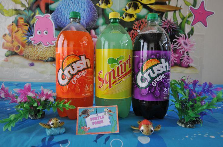 Finding Nemo Baby Shower Crush & Squirt Soda