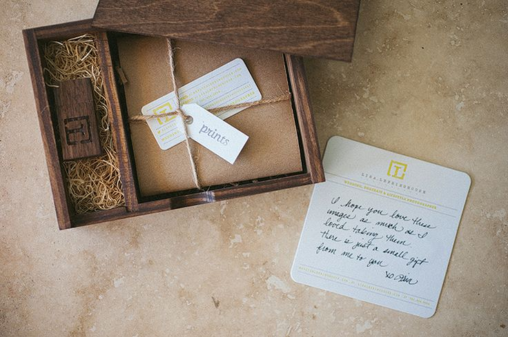 client packaging - wood box and USB