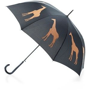The San Francisco Umbrella Company Giraffe Print Auto-Open Umbrella