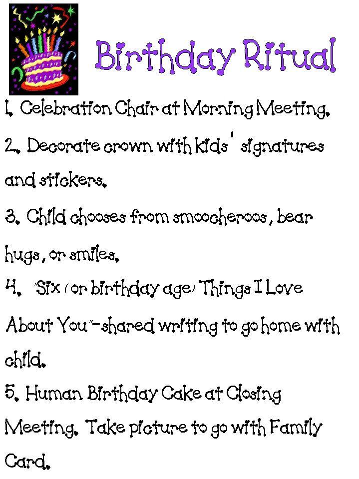 Birthday Ritual