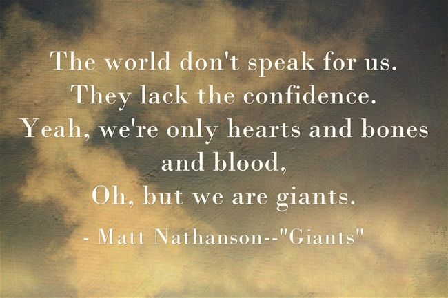 "Matt Nathanson--""Giants"" Quite possibly the greatest songwriter on the planet."