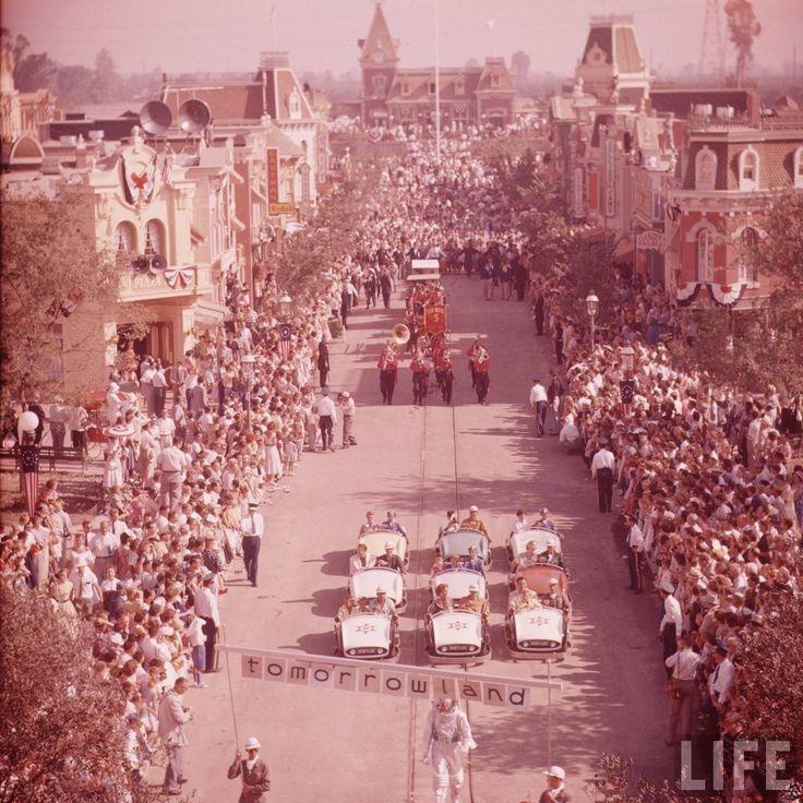 Disneyland's opening day, 1955.