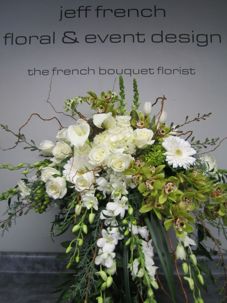 Funeral arrangement by Jeff French Floral and Event Design